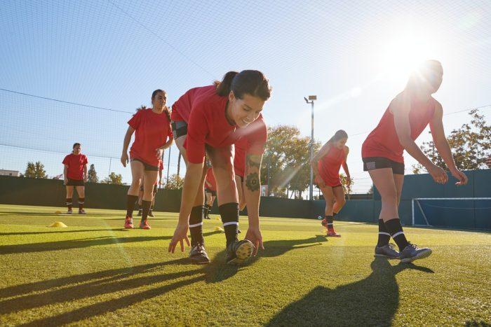 Womens Football Team Training